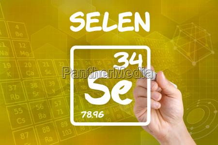 symbol pierwiastka chemicznego selen