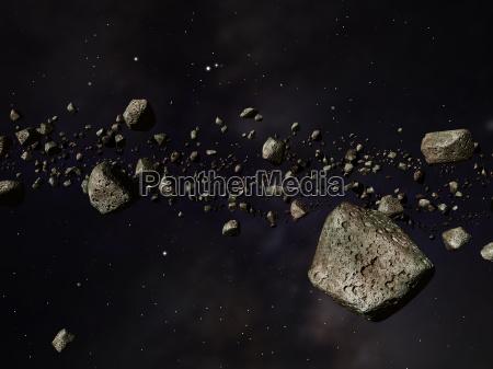 space kosmos kolizja uklad sloneczny karambolage