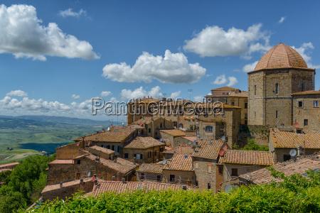 historyczny miasto grod town toskania patrzec