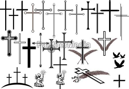 krzyze i inne symbole zaloby