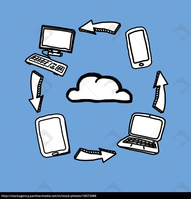 cloud, computing, rysunki - 10073488