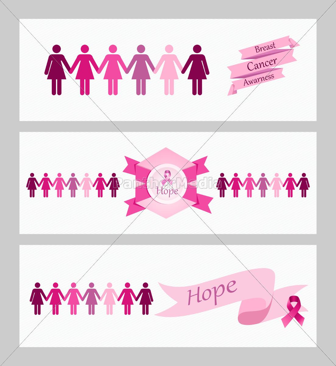 Świadomość, raka, piersi, wstęgi, banerów, internetowych - 10113743