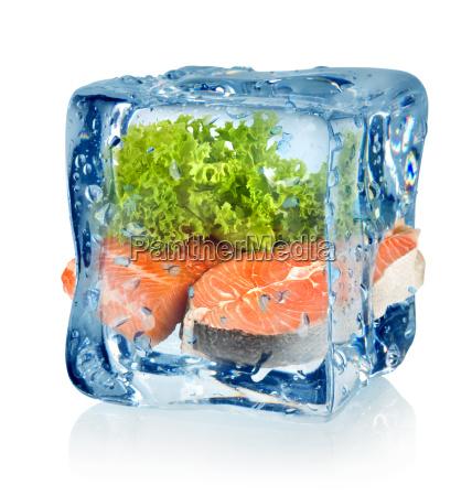 kostki, lodu, i, ryby - 10125727