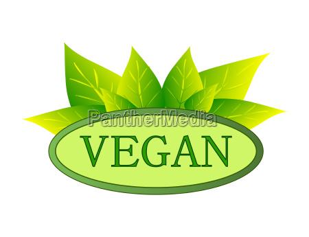 weganskie logo zielone