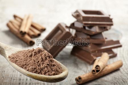 kakao vinicius cynamonem cynamon deser czekoladka