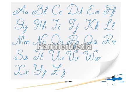 niebieski pisanie pismie pisze pisac obiekt