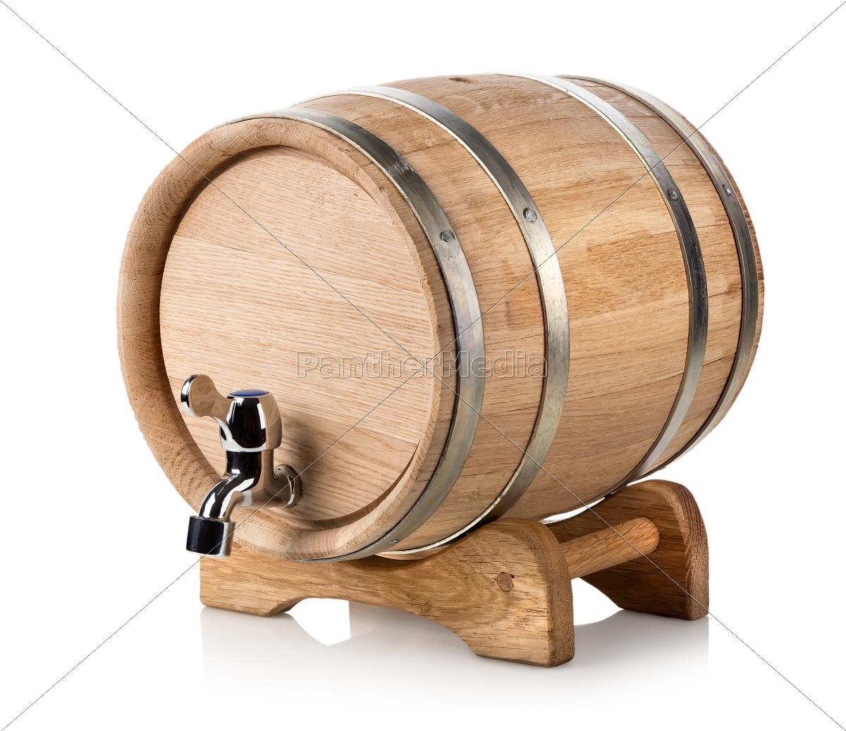 drewniana, beczka, na, wino - 10248889