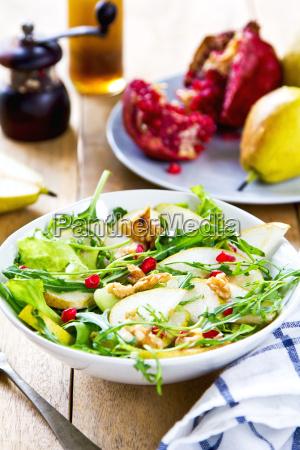 gruszka, z, pommegranate, i, sałatką, rakietową - 10296483