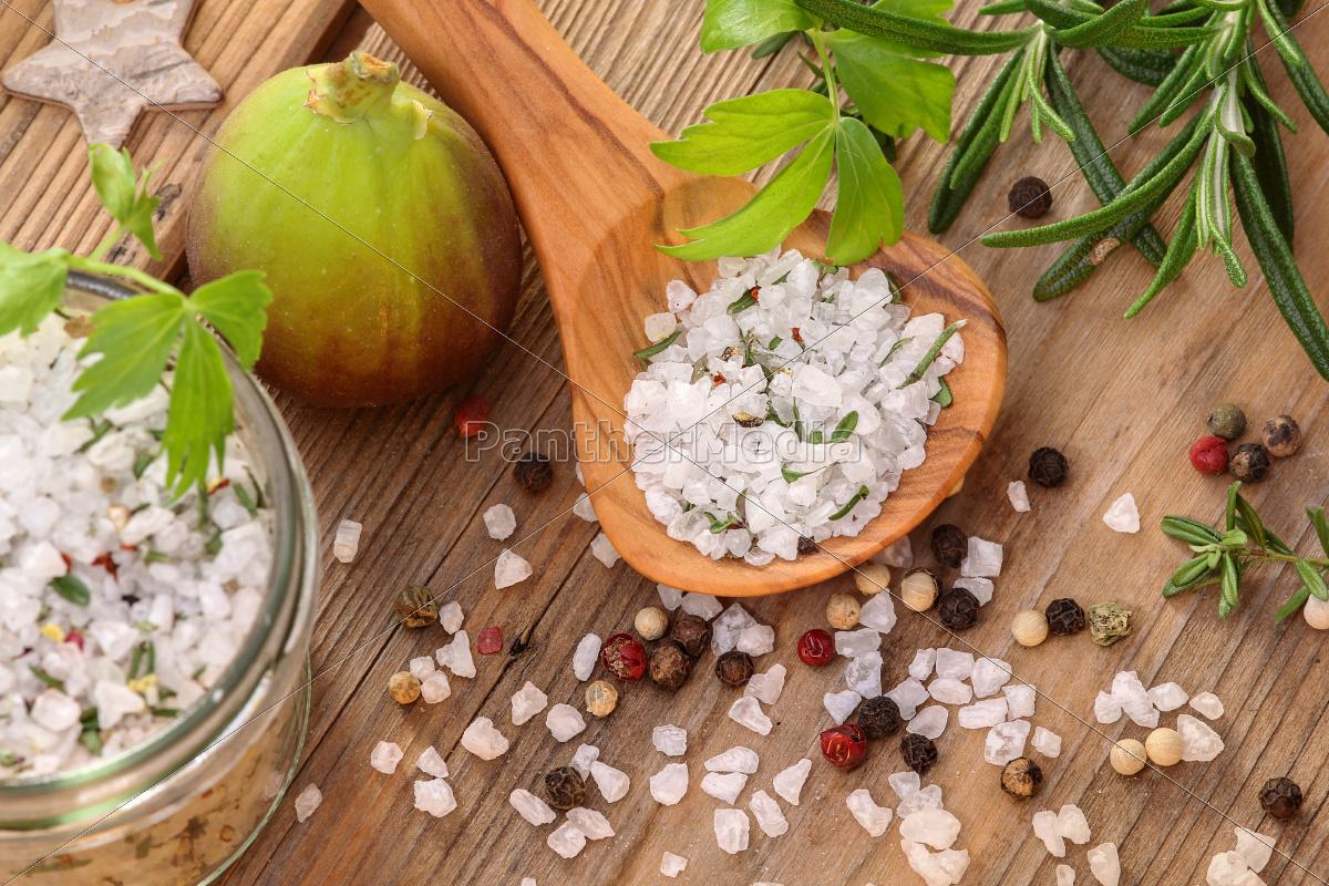 ziołowa, sól, przyprawy, sól, ziele - 10308935