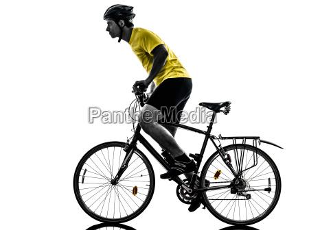 man, bicycling, , mountain, bike, silhouette - 10335057