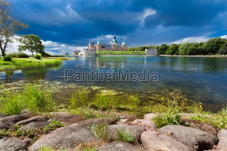 historyczny zamek kalmar w szwecji scandinavia
