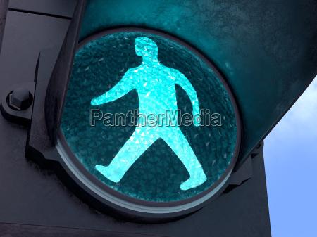 zielone swiatlo dla pieszych