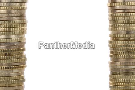 frame made of euro coins