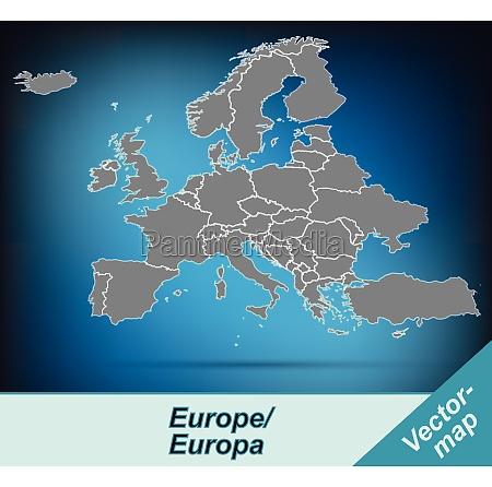 granica mapa europy z granicami w