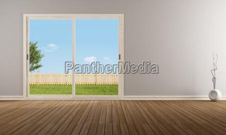 wnetrze pusty minimalistyczny wspolczesny okno pusty