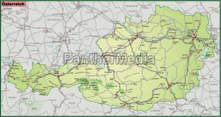 mapa austrii z siecia ruchu w
