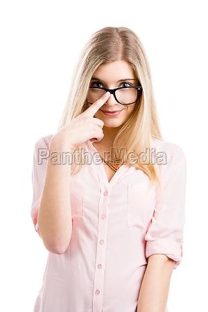 nerd dziewczyna