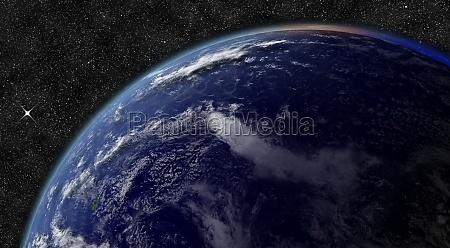 ocean spokojny z kosmosu