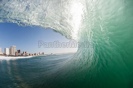 ocean wave sciana wody