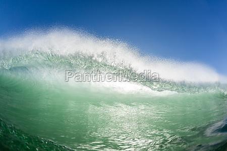 ocean fala sciana woda