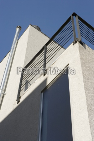exterior detail of modern home and