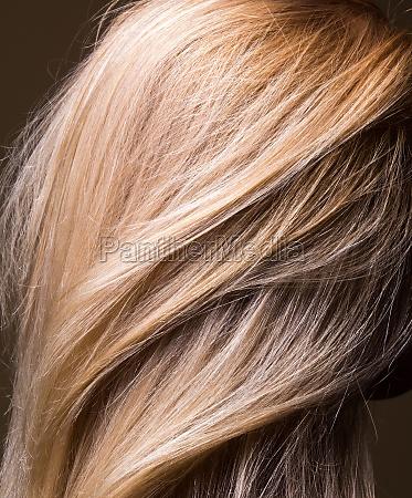clean natural healthy hair close up