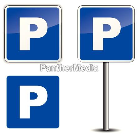 tarcza sygnal znak niebieski zwolniony park