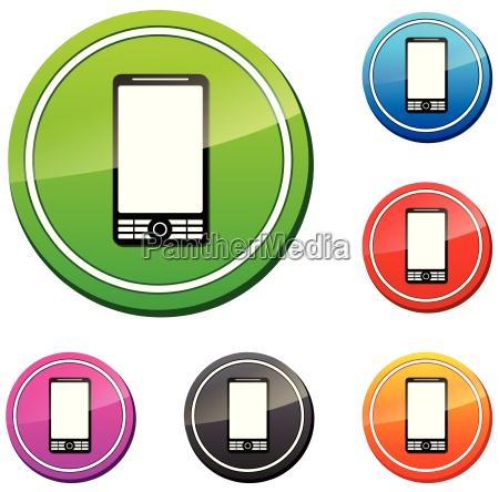 zestaw wektora mobilne ikony
