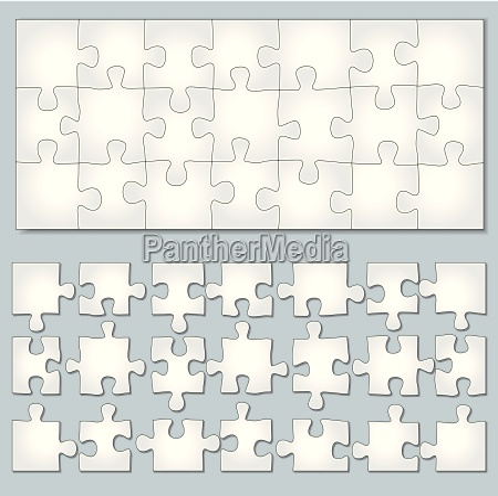 wektor poziome puzzle