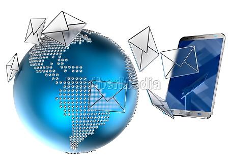 wiadomosci e mail lub sms wysylane