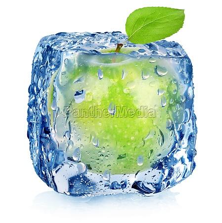 zielone jablko mrozone