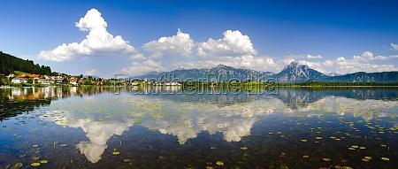 panoramic landscape at hopfensee in bavaria