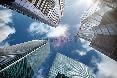 wysocy drapacze chmur w hong kong