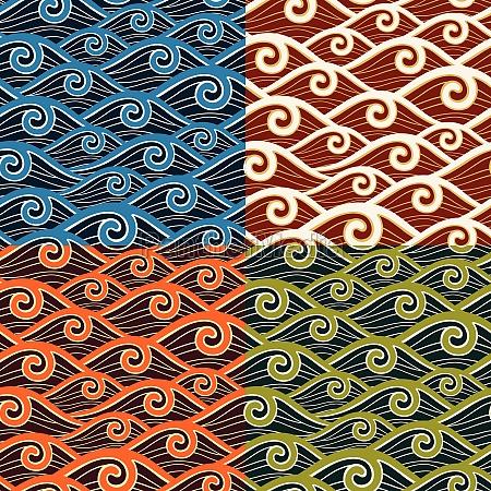 ornament tradycyjne dekoracja tapeta szablon plynnie