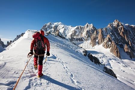 alpy swiadczenie przygoda voralpen alpinista sam