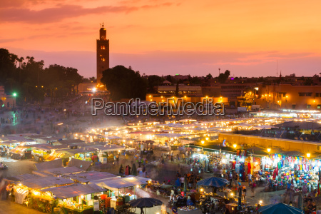 jama el fna marrakesz maroko