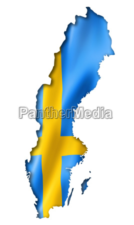 szwedzkie flagi map