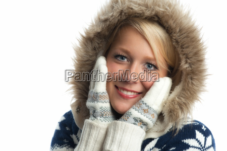 face in winter