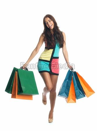 mloda kobieta w spree zakupu