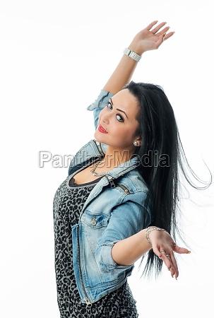 pretty black haired girl