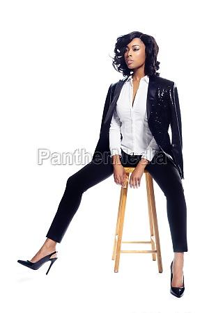 beautiful african american young woman