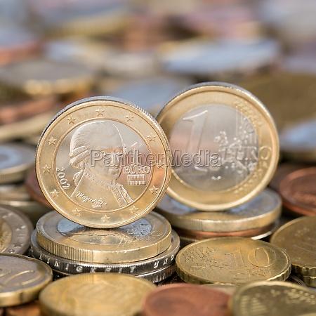 1 euro coin from austria mozart
