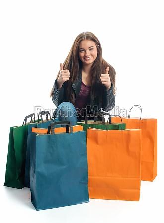 girl on a spending spree