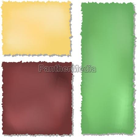 zestaw kolorowych papierow grunge tle