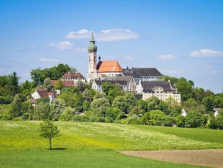 klasztor andechs w bawarii niemczech