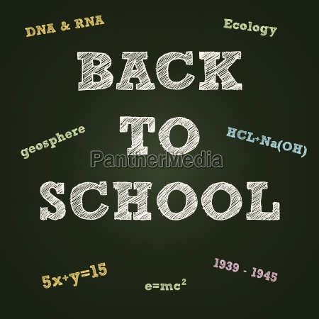 back to school typography on a