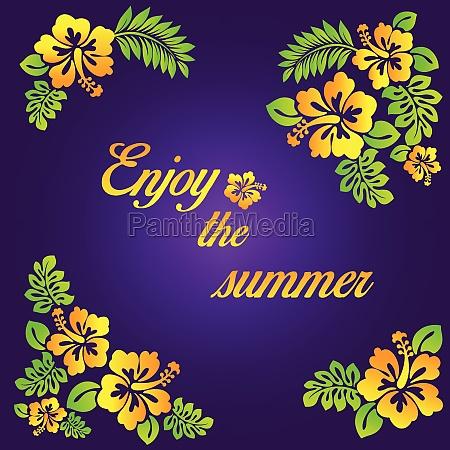 enjoy the summer purple illustration