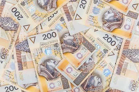 banknotes of 200 pln polish