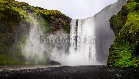 krajobraz widok dzikich wodospad skogafoss w