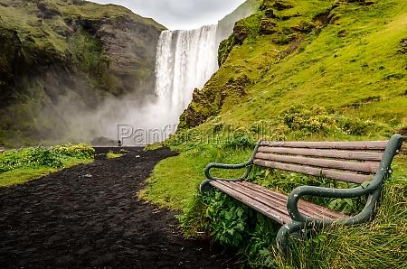 krajobraz widok dzikiej wodospad skogafoss i